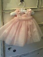 Kate Mack Baby Biscotti Pink Tulle Dress 3Mo