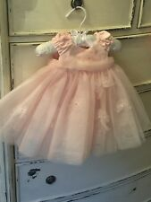 Kate Mack Baby Biscotti Pink Tulle Dress 3Mo
