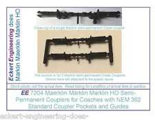 EE 7204 New Maerklin Märklin Marklin HO Semi-Permanent Couplers for Coaches Pk 2