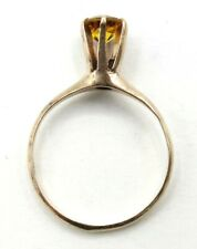 10K Yellow Gold Yellow Stone Ring, Vintage, Size 5.75