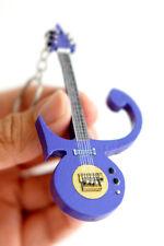 "Prince Symbol Purple Signature 4"" Wooden Miniature Guitar Keychain"