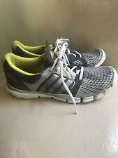 Adidas Adipure Trainer Women's Running Shoes Size 10 Gray W Green & Silver Trim