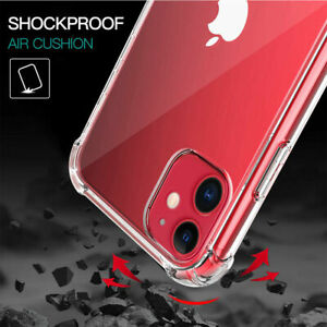 NEW 360° CLEAR TPU Case Shockproof Protector Cover For Apple iPhone X  8 7 6
