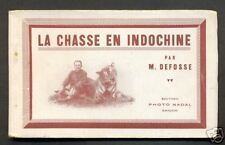 Hunting booklet 7 postcards Indo Chine Vietnam 20s