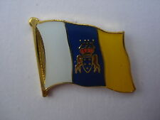 Canarias flaggenpin, flag, pin, badge, Islas Canarias