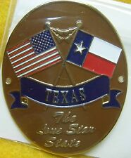 Texas The Lone Star State new badge mount stocknagel hiking medallion G8511