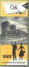"1966 SAS /Scandinavian Airlines Oslo Travel Brochure / ""City Portrait"" Series"