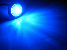 """Maxxima M09400BCL BLUE Clear 6 LED 1-1/4"""" Marker Light"""