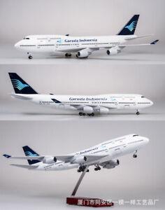 47cm 1/150 Garuda Indonesia Airplane Resin Passanger Plane B747 Linght&Sound Toy