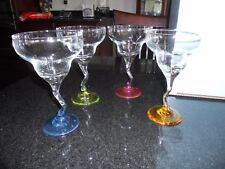 PartyLite Marguerita glasses - set of 4 (no box, never used)