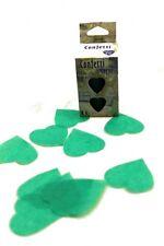Confettis de scène en forme de coeur vert jade 100 grammes papier de soie 22709