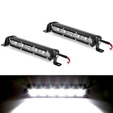 "8"" 60W LED Work Light Bar Aluminum Spot Beam Car SUV Offroad Lamp Universal 2Pcs"
