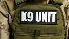 3x8 K9 Unit Black White RAID Morale Patch SWAT Hook Backed Badge Sheriff Police