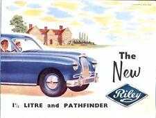 Riley 1.5 Litre and Pathfinder 1953 original UK market sales brochure