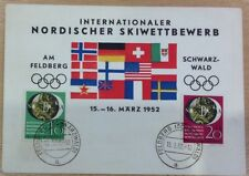 GERMANY (WEST) 1951 PHILATELIC EXH. SET ON 1952 OLYMPIC SOUVENIR CARD.CAT £135++