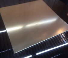 """1/8 BRASS SHEET PLATE NEW 12""""X12"""" .125 Thick *CUSTOM 1/8 SIZES AVAILABLE*"""