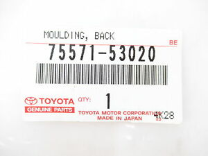 Genuine OEM Lexus 75571-53020 Back Glass Reveal Molding 08-14 IS F 06-14 IS250