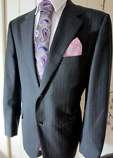 Corneliani super 120 Two Button front pinstripe Jacket UK 46 EU 56 pristine