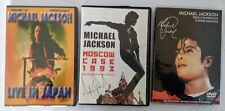 Michael Jackson Lot of 3 DVD Live In Japan Moscow 1993 Press Conference Signings