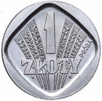 Polen - Münze - 1 Zloty 1958 - Ähren - Probe - Aluminium - Stempelglanz UNC