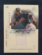 Chipper Jones Upper Deck SP Game Used Autographed Signed  Uniform Card 24 of 50