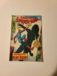 Amazing Spider-Man #86 - Marvel 1970 Origin Black Widow