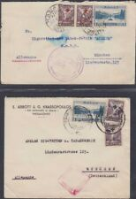 GREECE, 1937-38. Cover (2), 381, RA55,RA57, Kavala - Munich