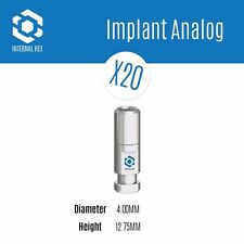 20 x Dental Analog Analogs For Internal Hex RP Dental Implant Implants - Lab Use