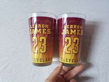 Lot of 2 Lebron James 23 Cleveland Cavaliers 2014 Return To Cleveland Pint Glass