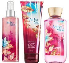 Bath & Body Works Amber Blush Trio Retired ShimmerMist/Cream/Shower Gel