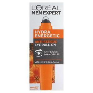 NEW - L'oreal Men Expert Hydra Energetic Eye Roll On Anti Bags Dark Circles 10Ml