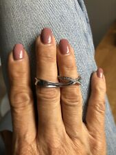 GEORG JENSEN MARCIA DOUBLE RING WITH DIAMONDS - PRE OWNED - NO BOX
