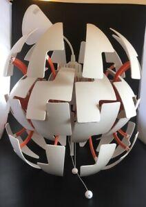 "14"" 35cm-IKEA/David Wahl - PS 2014 - White /Orange  Modern Death Star Light"