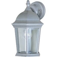 Maxim Builder Cast 1-Light Outdoor Wall Lantern Pewter - 1024PE