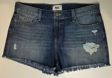 Paige Daryn Shorts Izza Destructed Blue Size 31