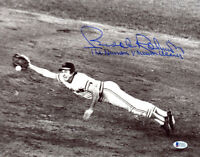 BROOKS ROBINSON SIGNED 11x14 PHOTO +THE HUMAN VACUUM CLEANER ORIOLES BECKETT BAS