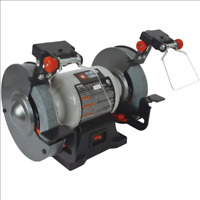 PORTER-CABLE 6-in Bench Grinder with Built-in Light Shaping Grinding Sharpening