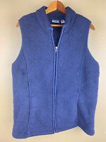 Croft & Barrow Womens White Super Soft Warm Casual Faux Fur Zip Up Vest Size PL