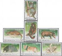 Nicaragua 3030-3036 (kompl.Ausg.) postfrisch 1990 Tiere