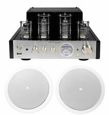 "(2) Jbl 6.5"" 150 Watt In-Ceiling Speakers+Tube Amplifier Home Theater Receiver"