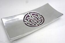 Servierplatte Obstschale China Dekoschale poliertes Aluminium 18 x 41cm B - Ware