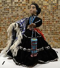 Spectacular Kay Bennett Navajo Doll - All Decked Out In Black Velvet, Etc.
