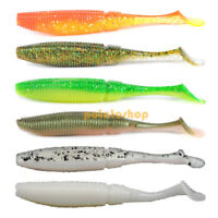 Pike Fishing Soft Lures 10cm Swimbait T-tail Worms Jig Head Grub Bass Perch Shad