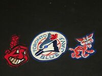OLD BASEBALL PATCH PATCHES CLEVELAND INDIANS TORONTO BLUE JAYS DETROIT TIGERS