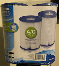 Four Pack of A/C Polygroup Summer Waves Pool Filter Cartridges.