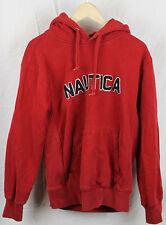 Vintage Nautica Spellout Red Hoodie Sz M