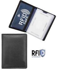 Alva Mens RFID Blocking Black Leather Credit Card Holder RFID SAFE