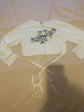 In The Style White Skill Crop Top Size L