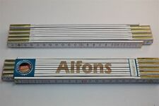 Zollstock mit Namen     ALFONS   Lasergravur 2 Meter Handwerkerqualität