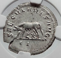 PHILIP I the ARAB 1000 Years of Rome Twins & Wolf Silver Roman Coin NGC i60201